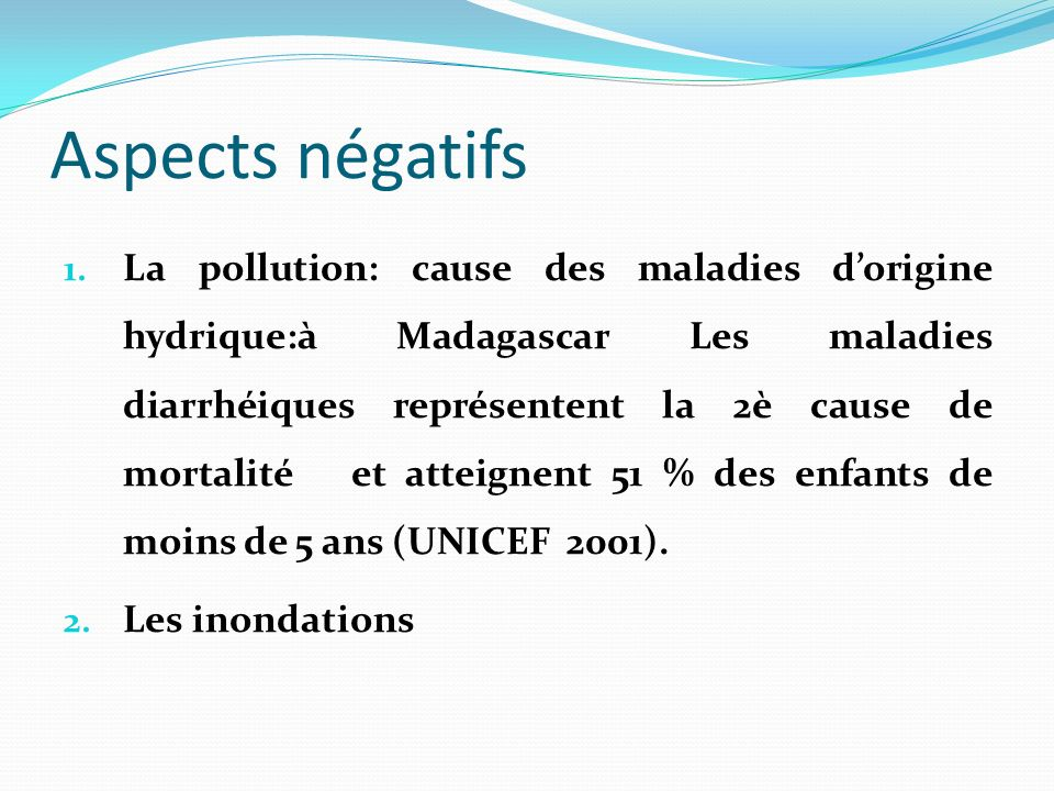Aspects négatifs