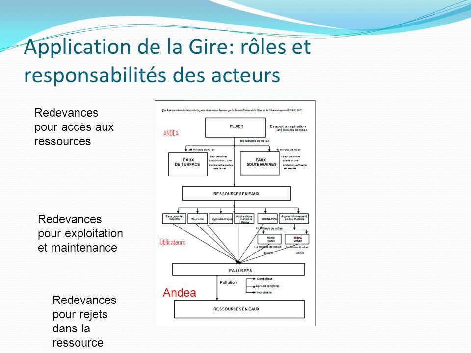 Application de la Gire: rôles et responsabilités des acteurs