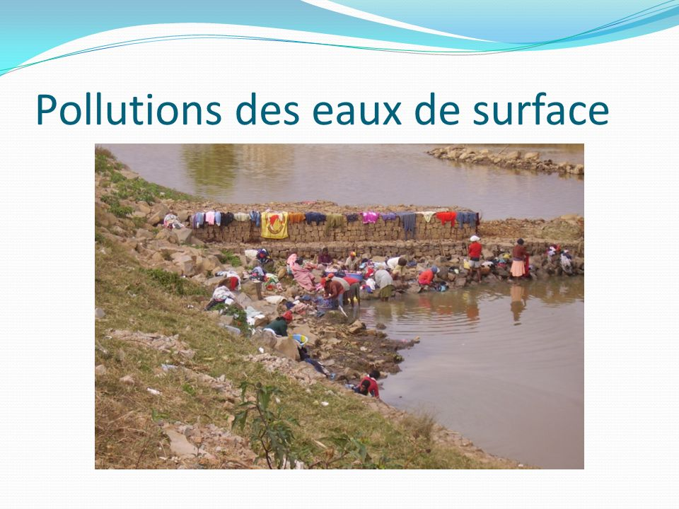 Pollutions des eaux de surface