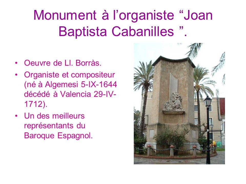 Monument à l'organiste Joan Baptista Cabanilles .