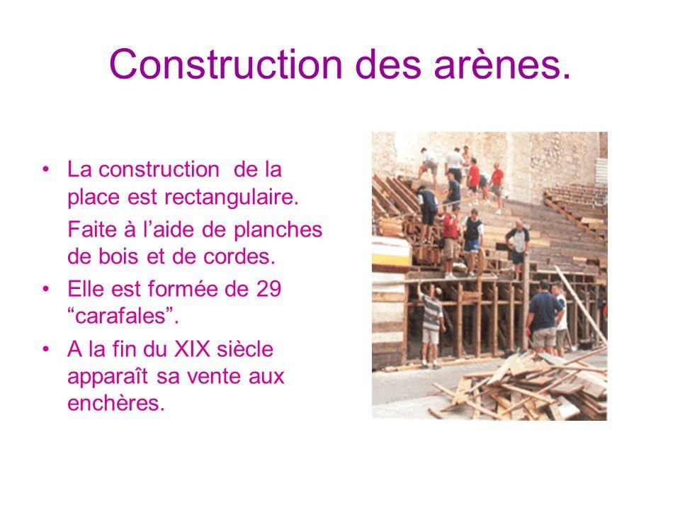Construction des arènes.