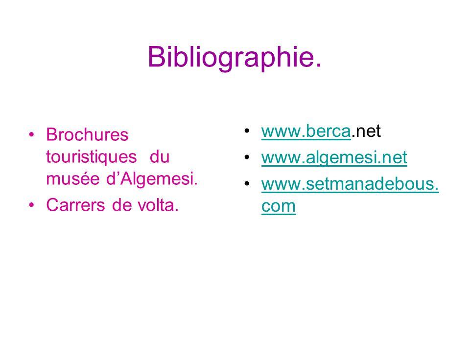 Bibliographie. www.berca.net