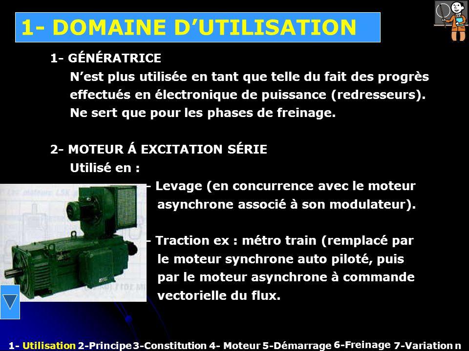 1- DOMAINE D'UTILISATION