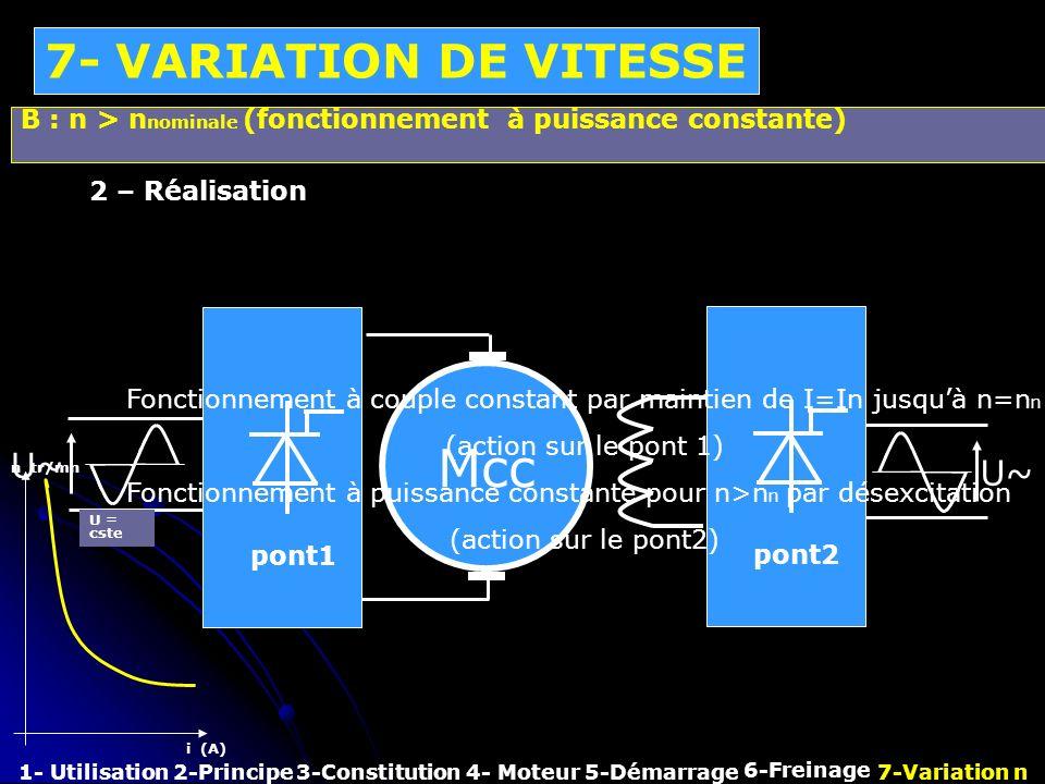 Mcc 7- VARIATION DE VITESSE U~