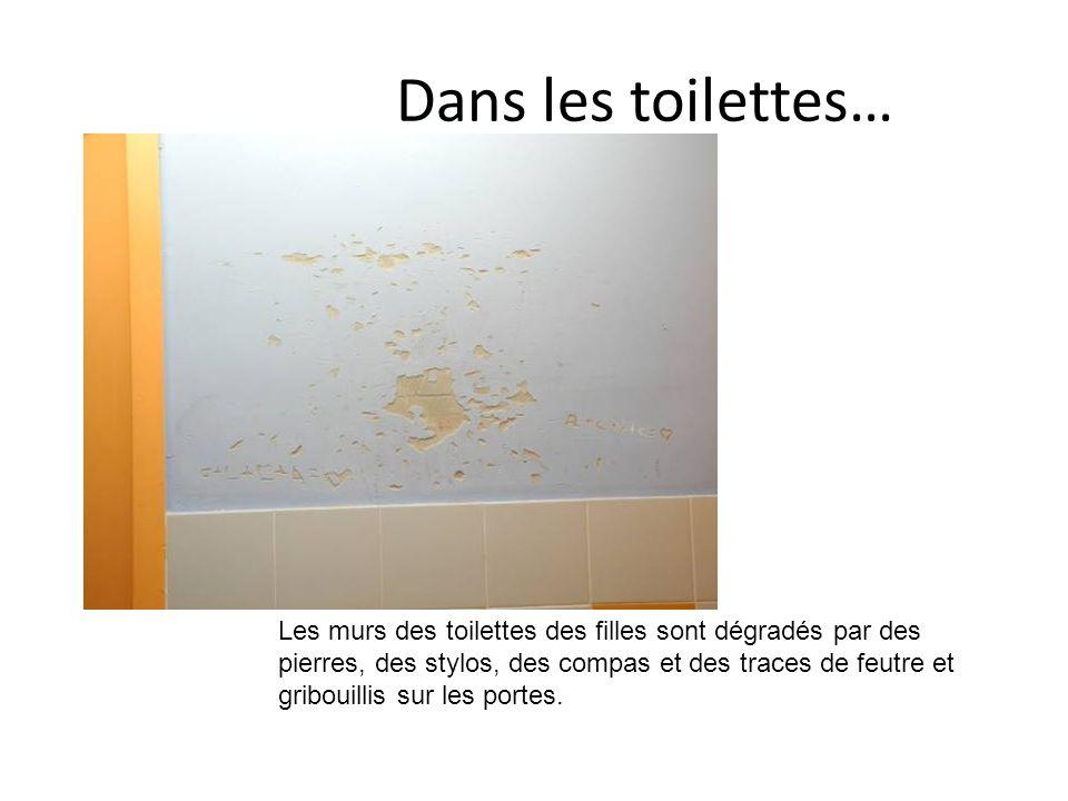 Dans les toilettes…