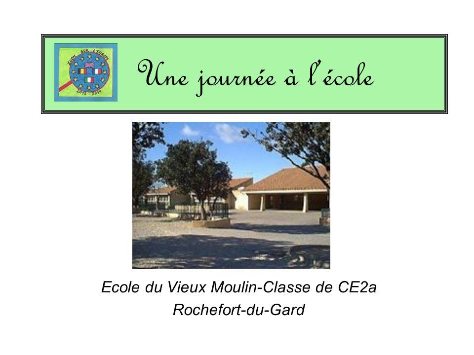 Ecole du Vieux Moulin-Classe de CE2a Rochefort-du-Gard