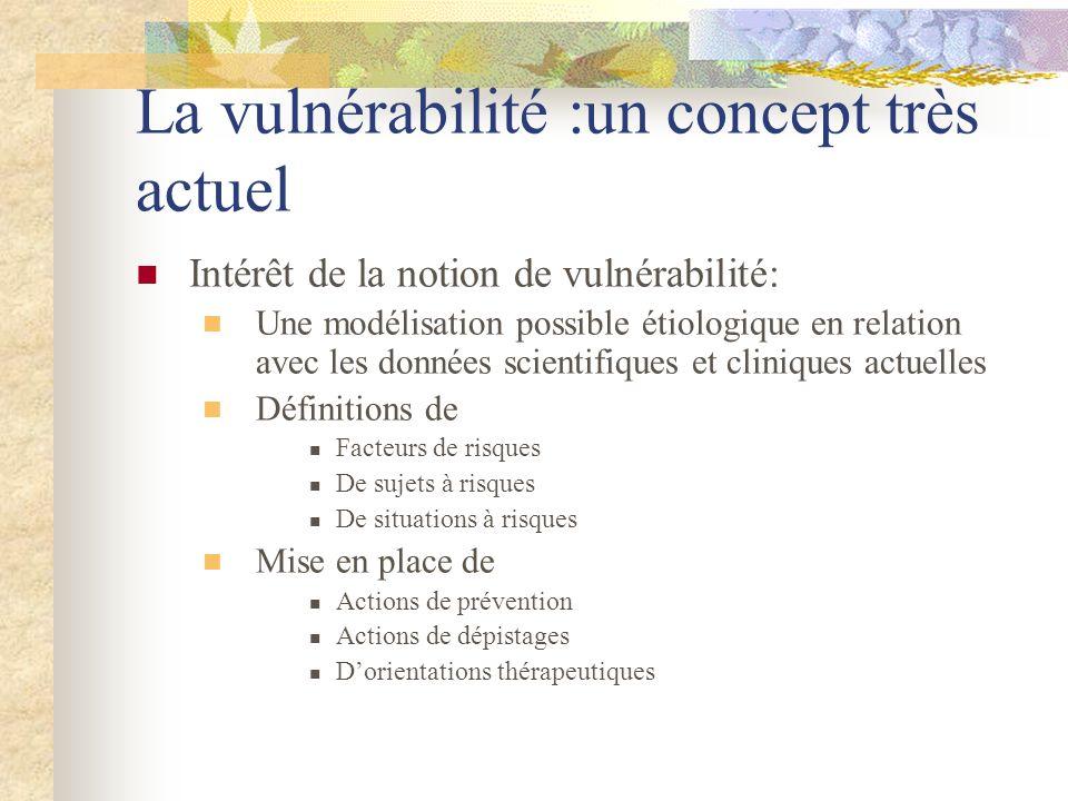 La vulnérabilité :un concept très actuel