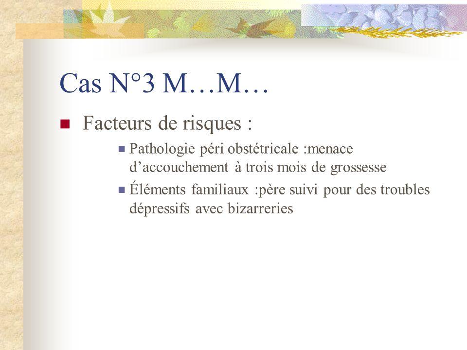 Cas N°3 M…M… Facteurs de risques :