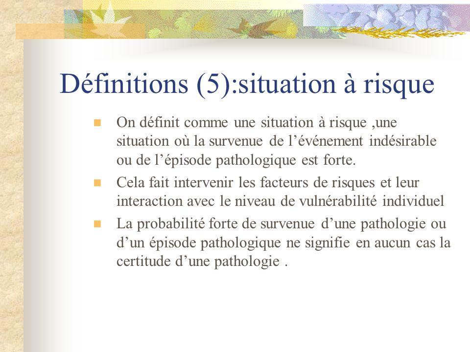 Définitions (5):situation à risque
