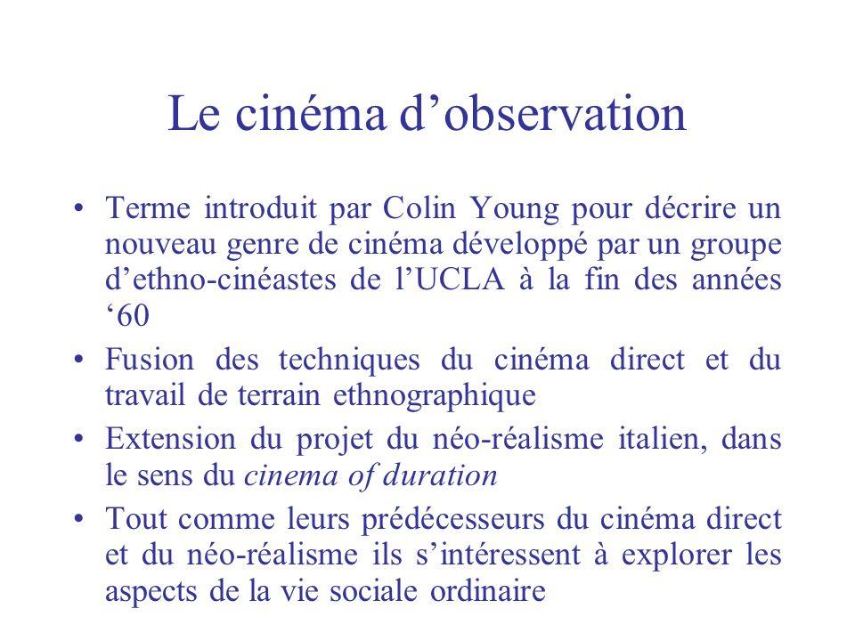 Le cinéma d'observation