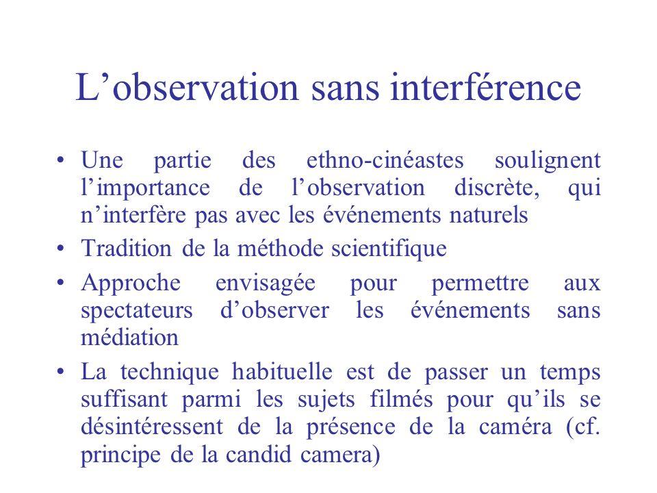 L'observation sans interférence