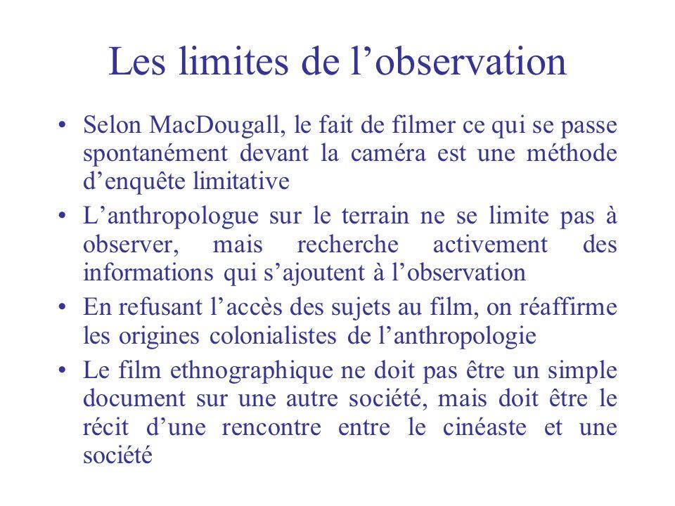 Les limites de l'observation