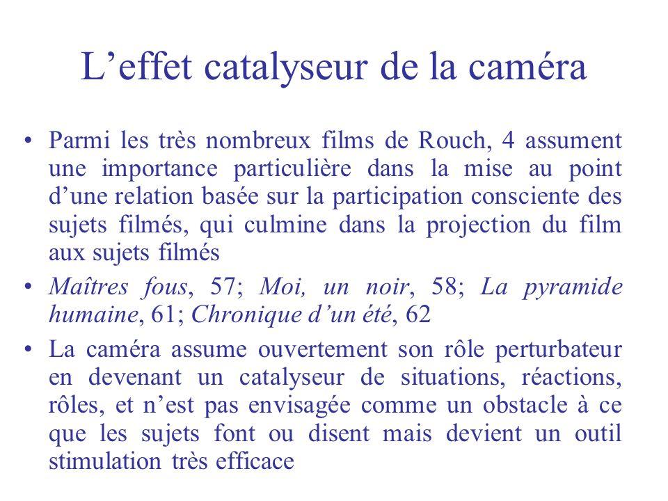 L'effet catalyseur de la caméra