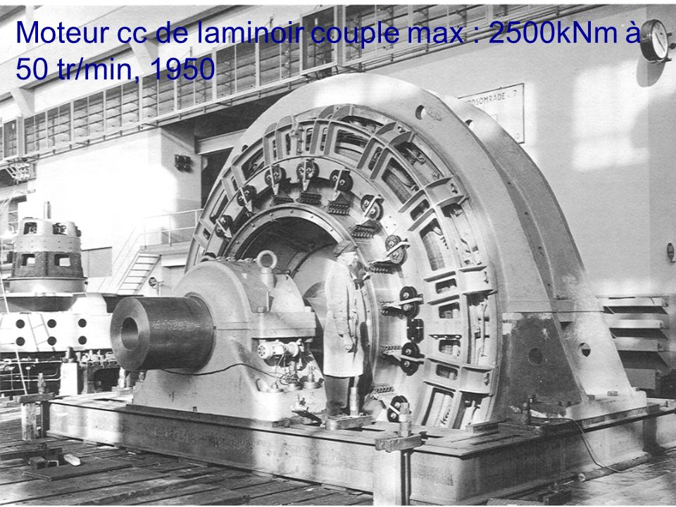 Moteur cc de laminoir couple max : 2500kNm à
