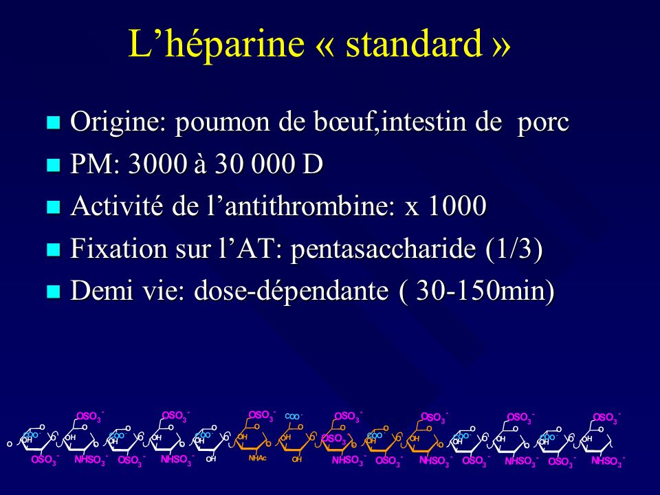 L'héparine « standard »