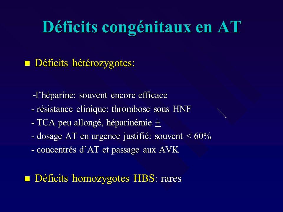 Déficits congénitaux en AT