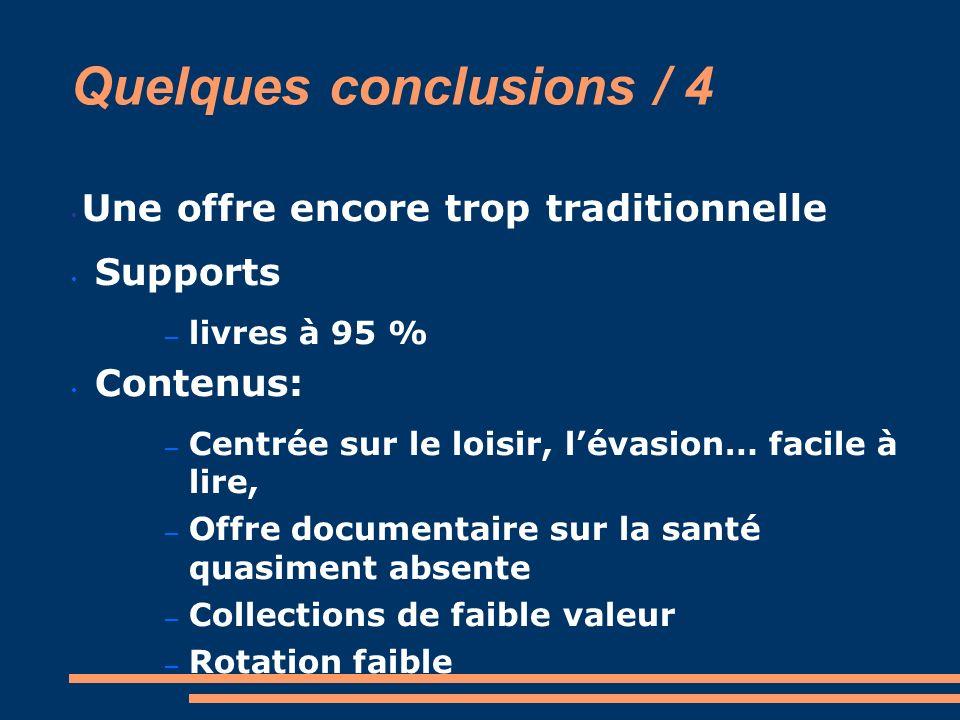 Quelques conclusions / 4