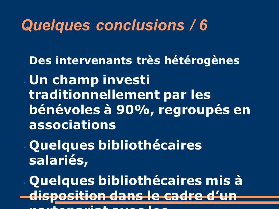 Quelques conclusions / 6