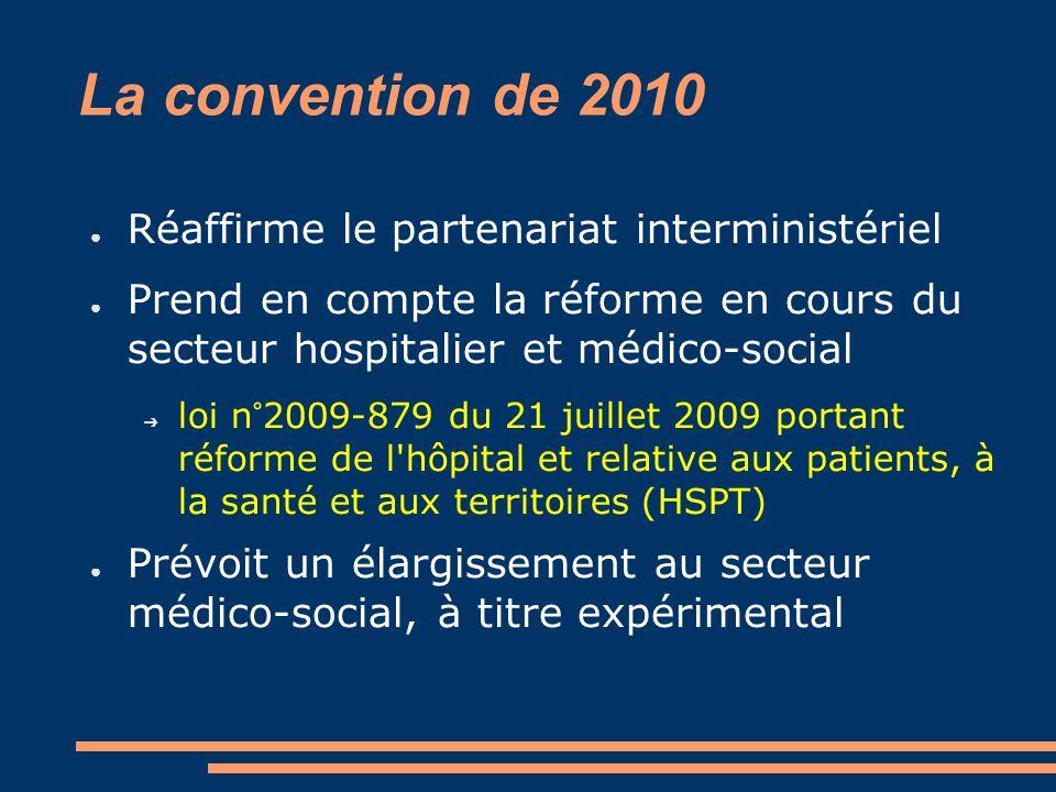 La convention de 2010 Réaffirme le partenariat interministériel