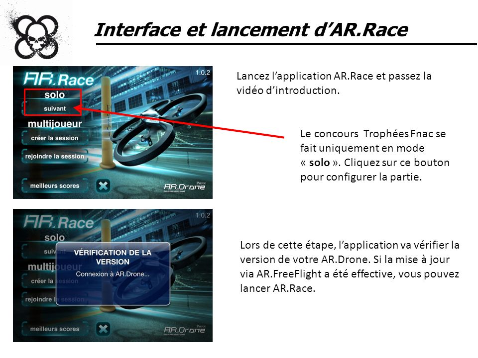 Interface et lancement d'AR.Race