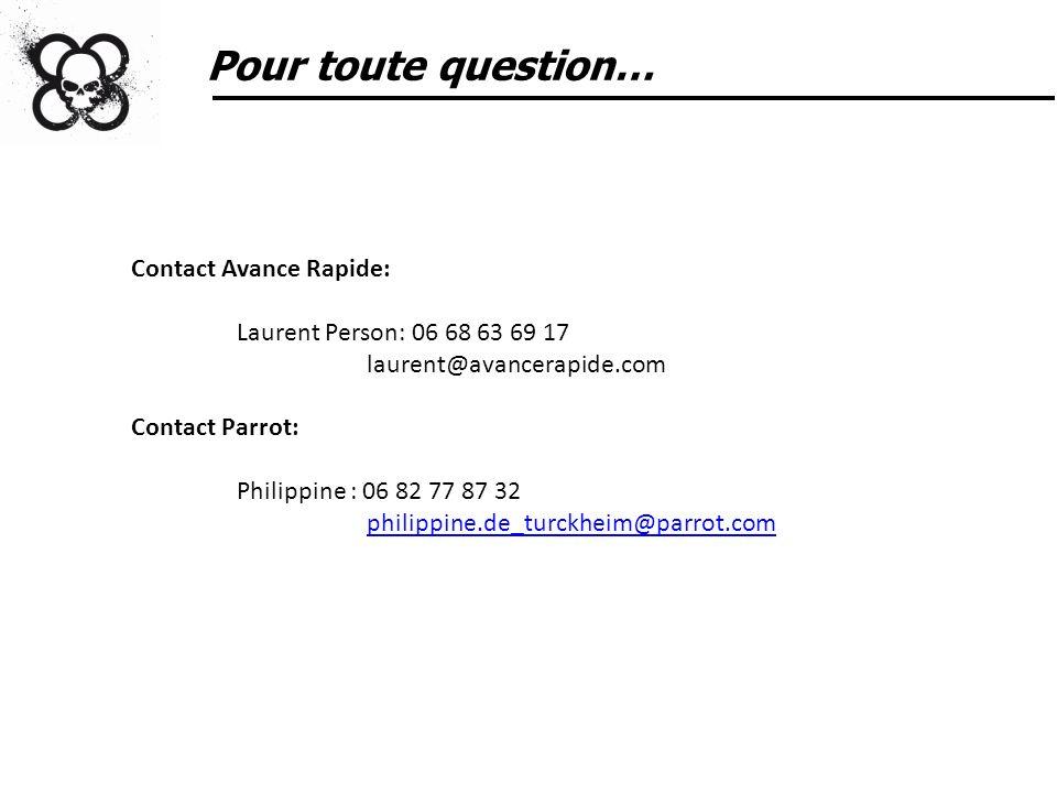 Pour toute question… Contact Avance Rapide:
