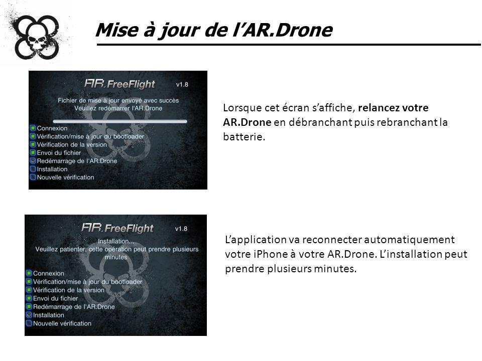 Mise à jour de l'AR.Drone