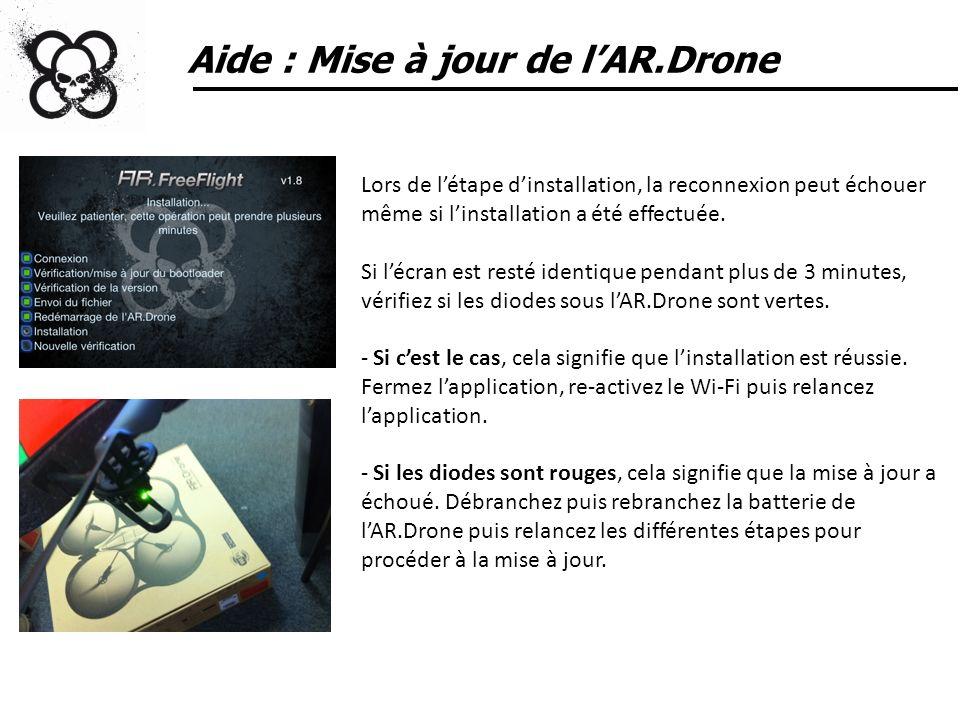 Aide : Mise à jour de l'AR.Drone