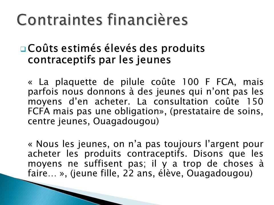 Contraintes financières