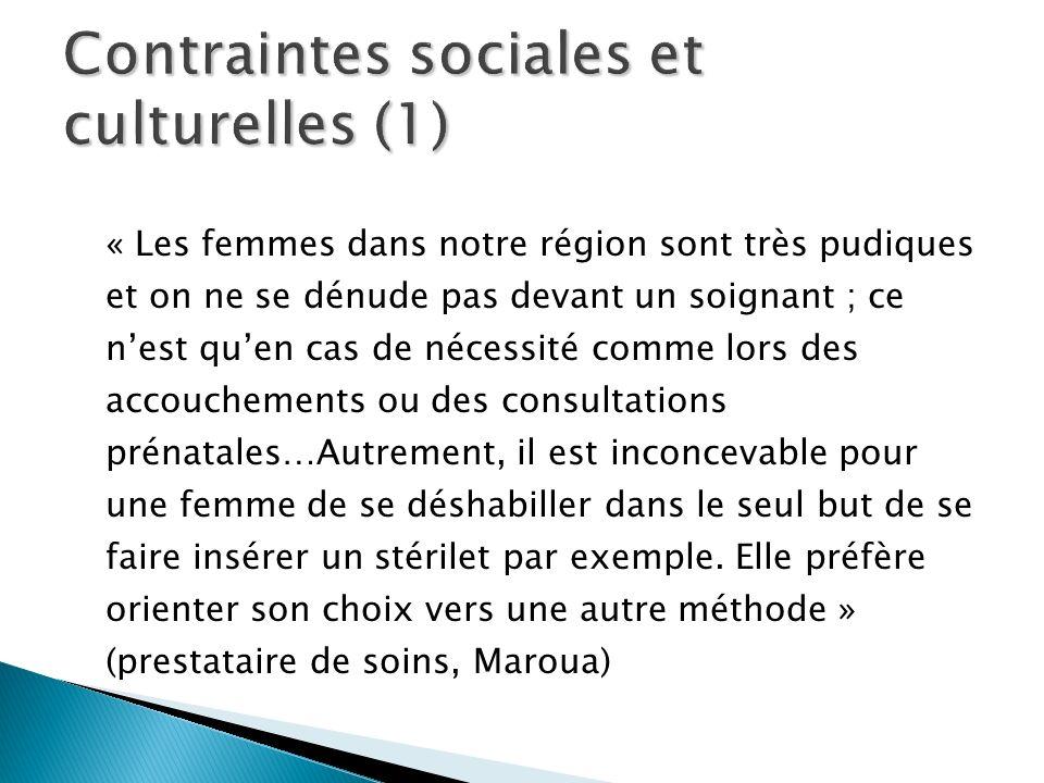 Contraintes sociales et culturelles (1)