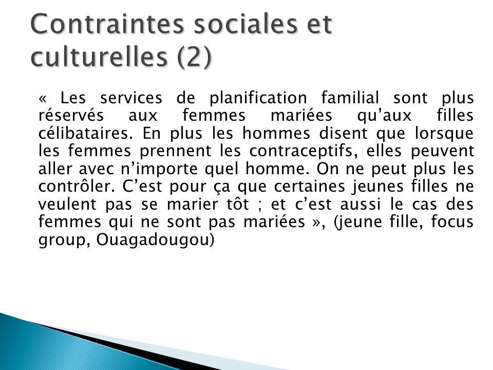 Contraintes sociales et culturelles (2)