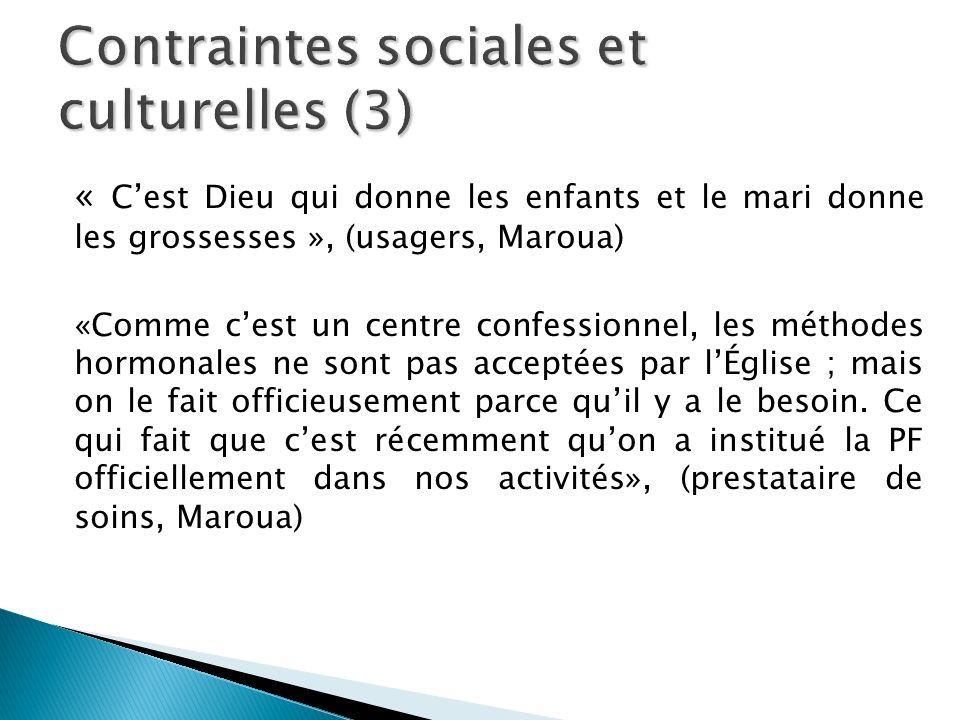 Contraintes sociales et culturelles (3)