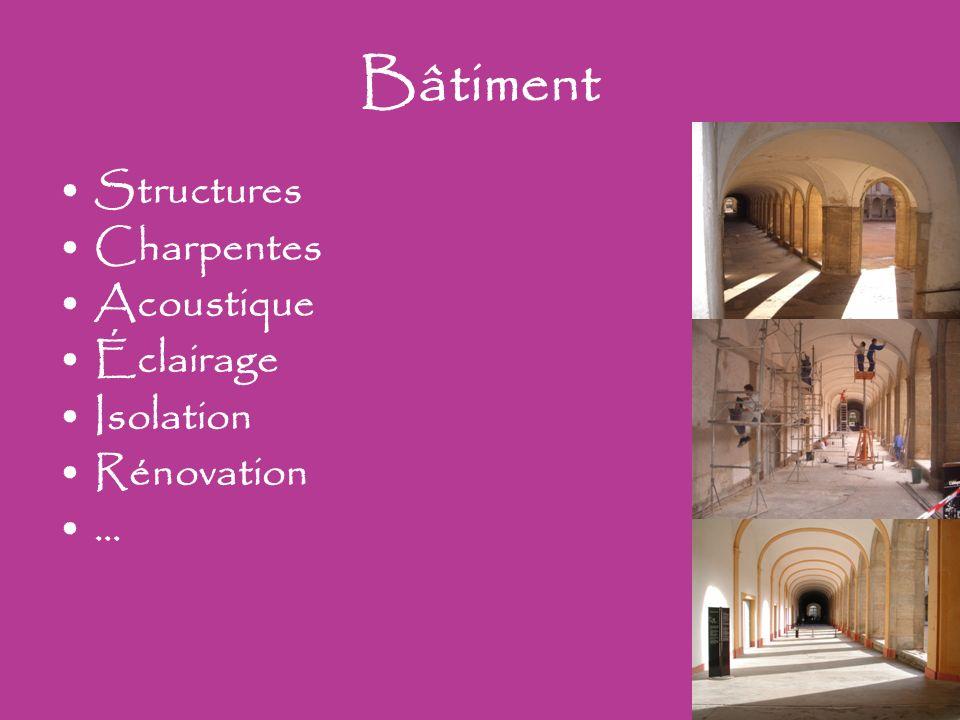 Bâtiment Structures Charpentes Acoustique Éclairage Isolation