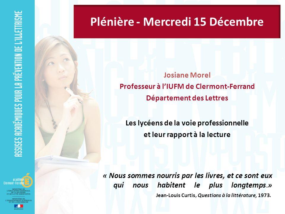 Plénière - Mercredi 15 Décembre