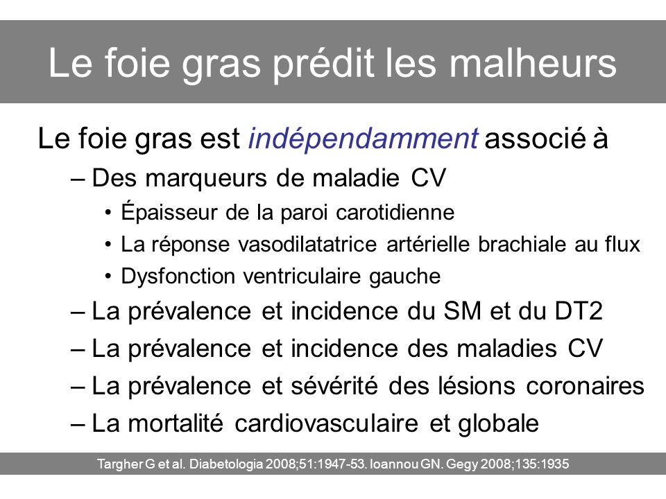 Le foie gras prédit les malheurs