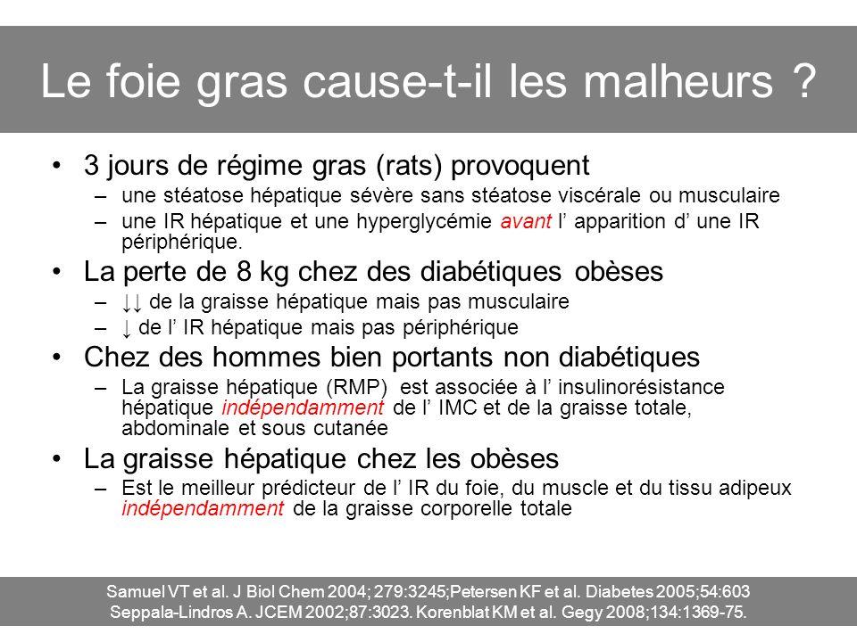 Le foie gras cause-t-il les malheurs