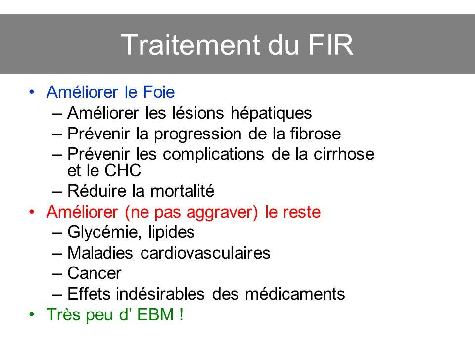 Traitement du FIR Améliorer le Foie Améliorer les lésions hépatiques