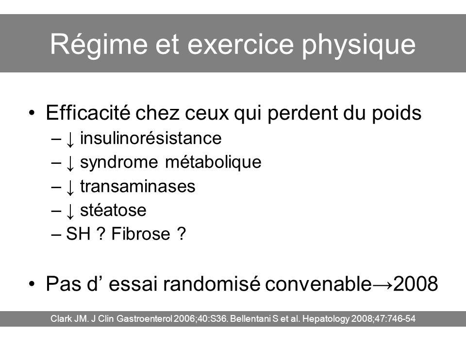 Régime et exercice physique