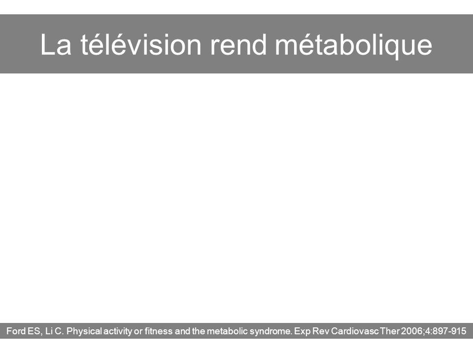 La télévision rend métabolique