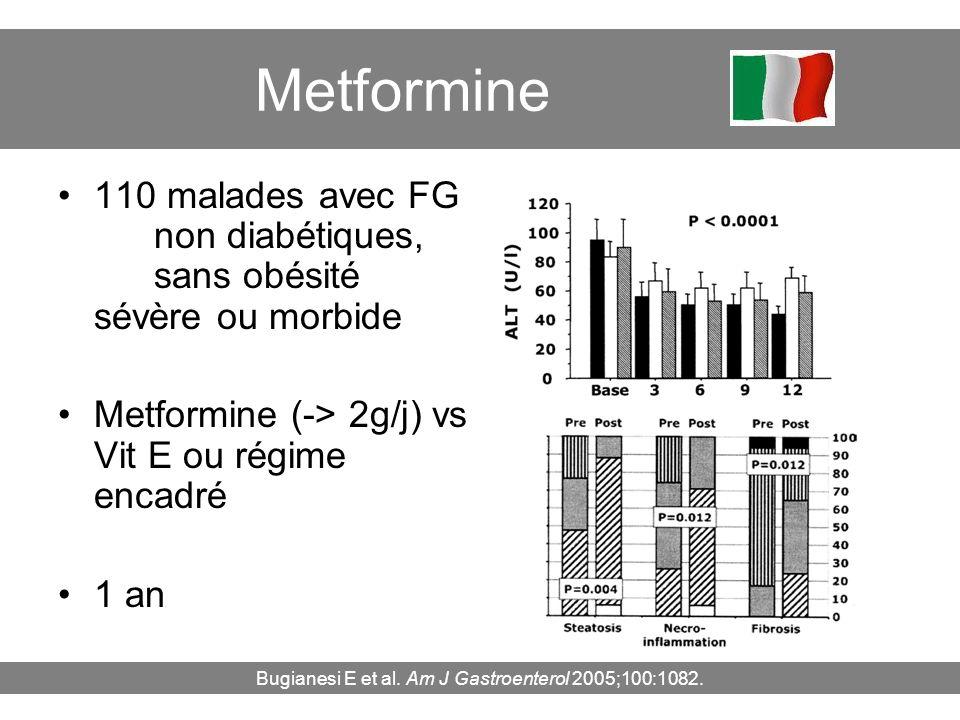 Bugianesi E et al. Am J Gastroenterol 2005;100:1082.