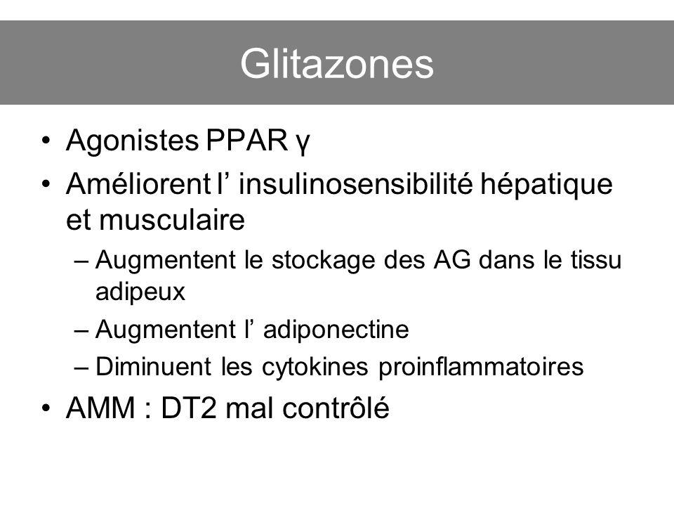Glitazones Agonistes PPAR γ