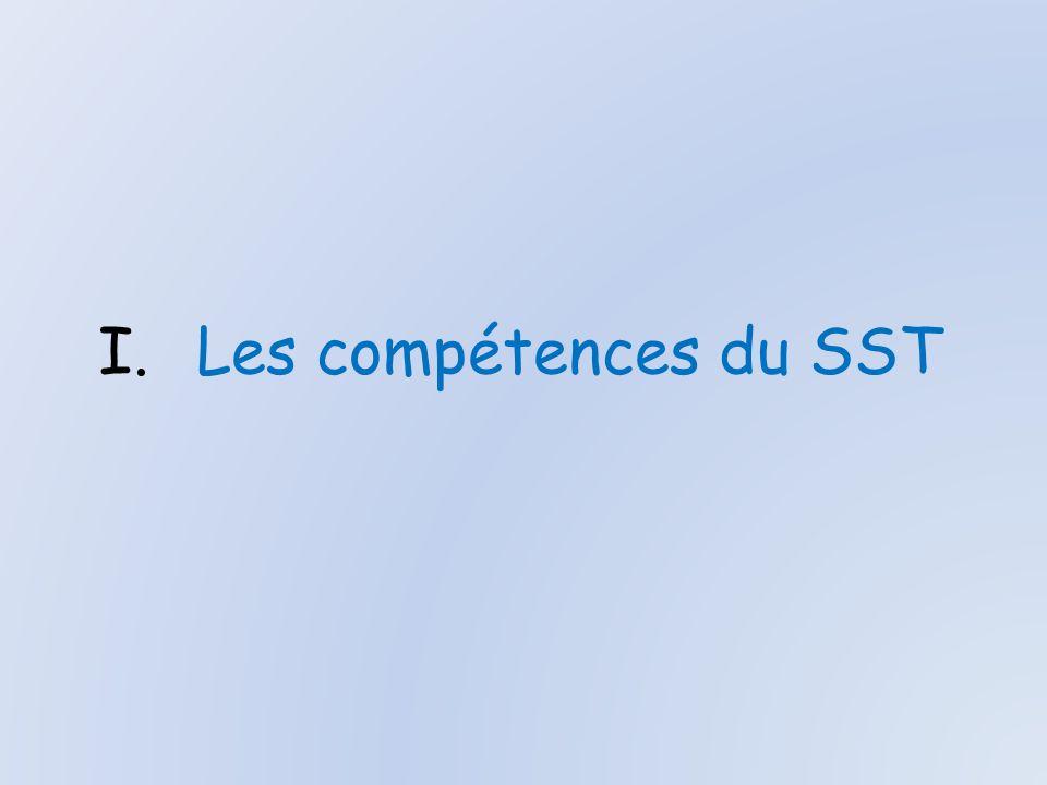 Les compétences du SST