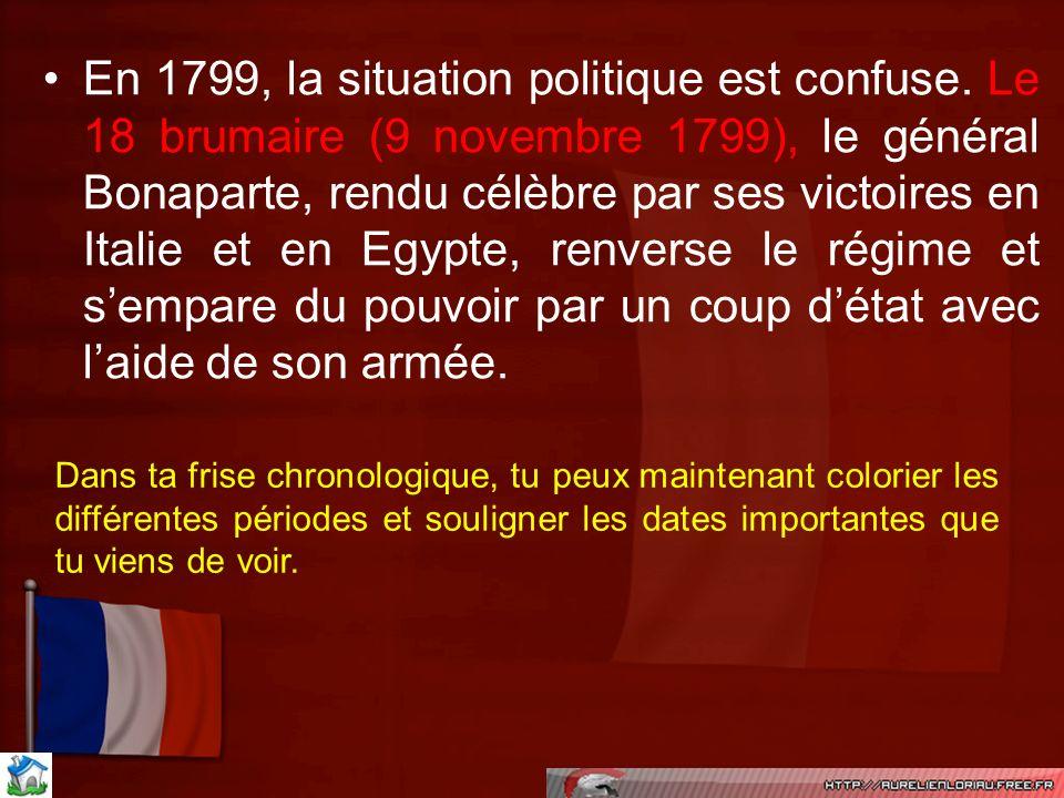 En 1799, la situation politique est confuse