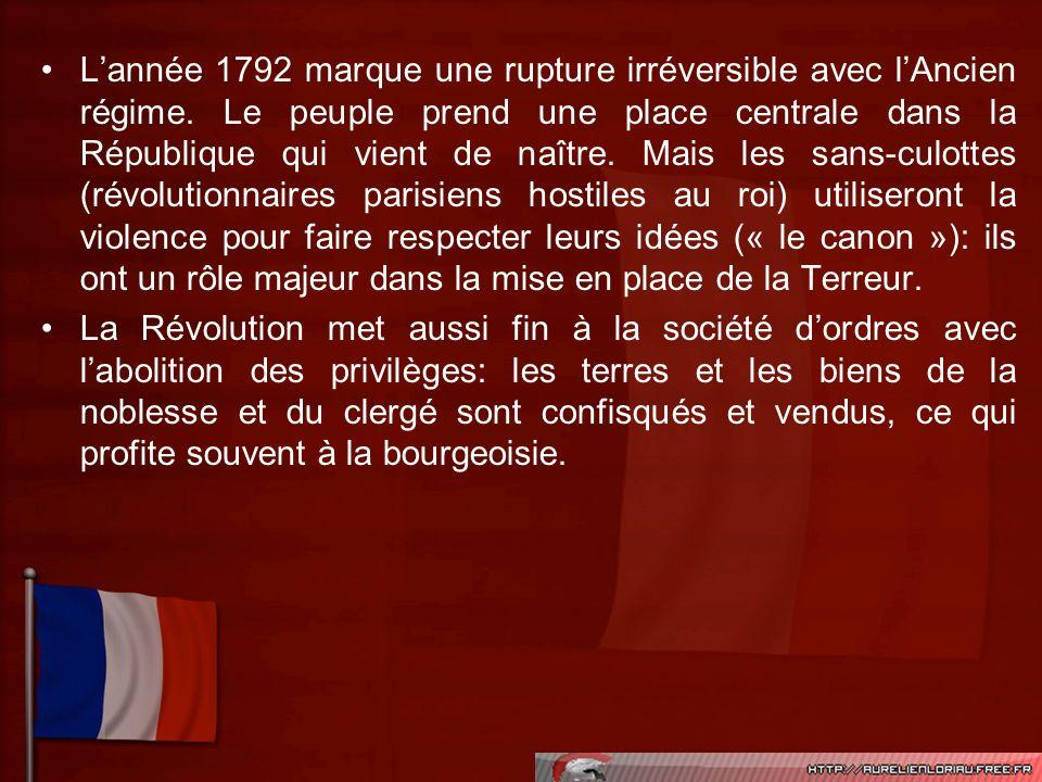 L'année 1792 marque une rupture irréversible avec l'Ancien régime