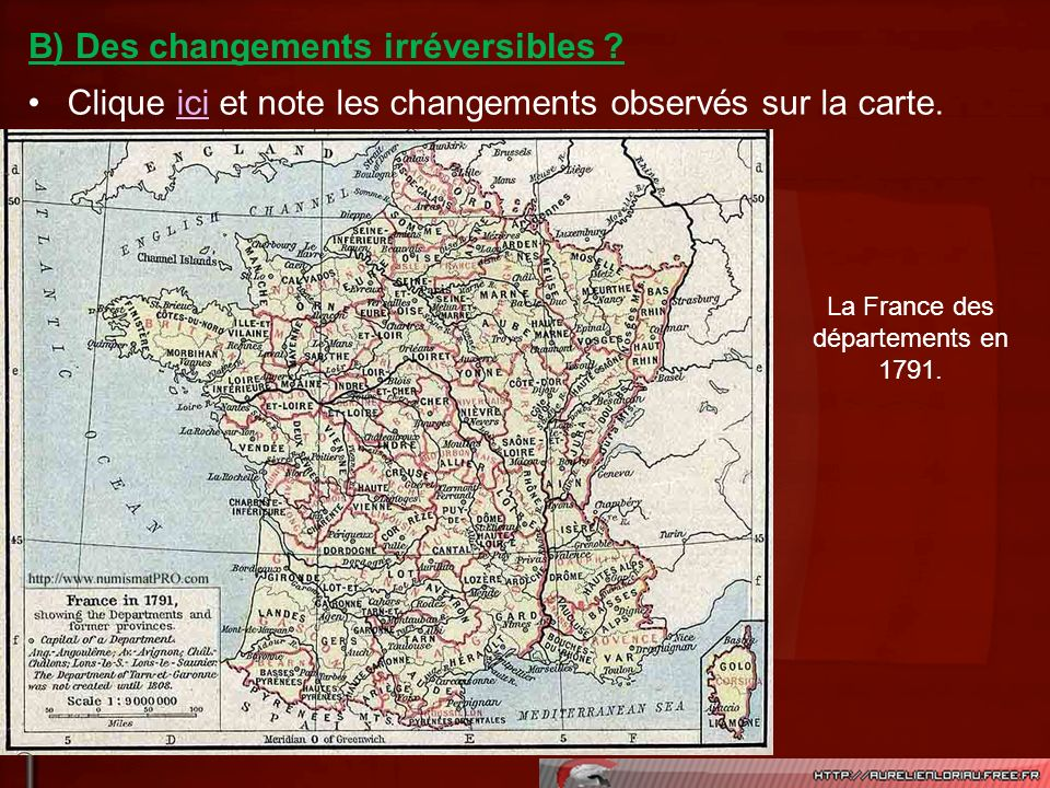La France des départements en 1791.