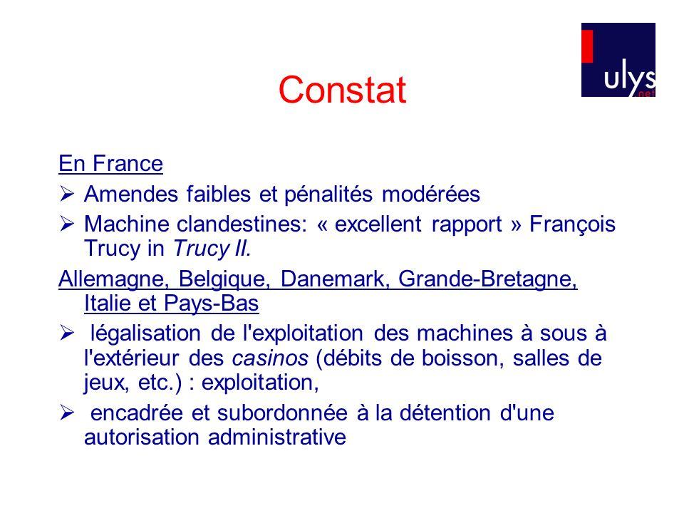 Constat En France Amendes faibles et pénalités modérées