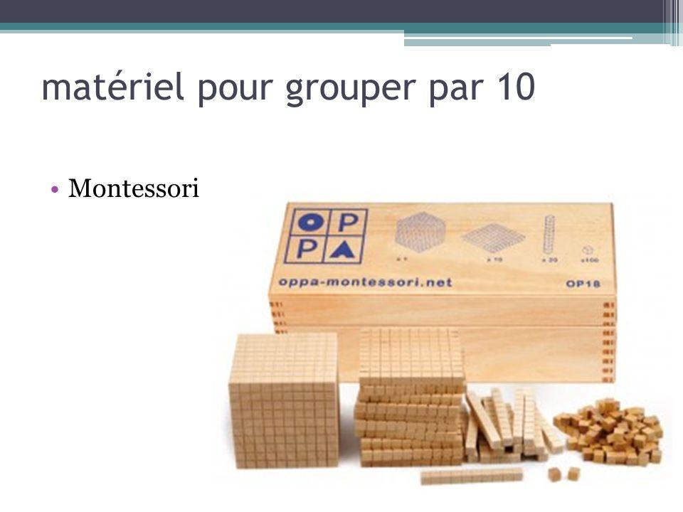 matériel pour grouper par 10