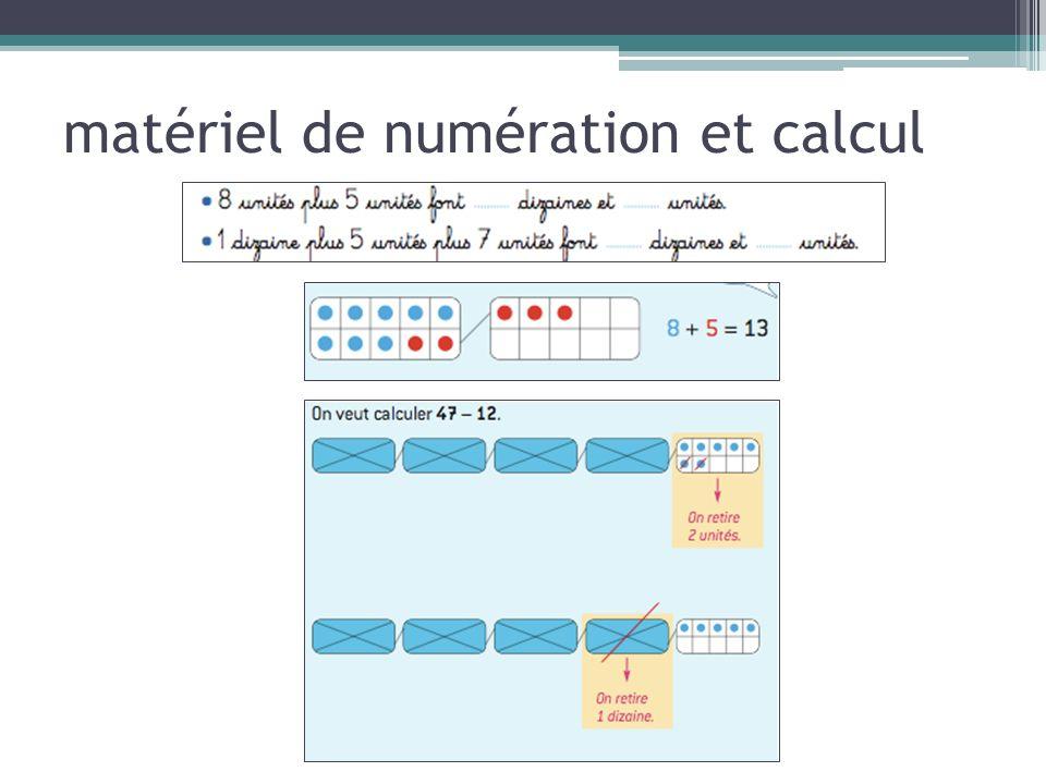 matériel de numération et calcul