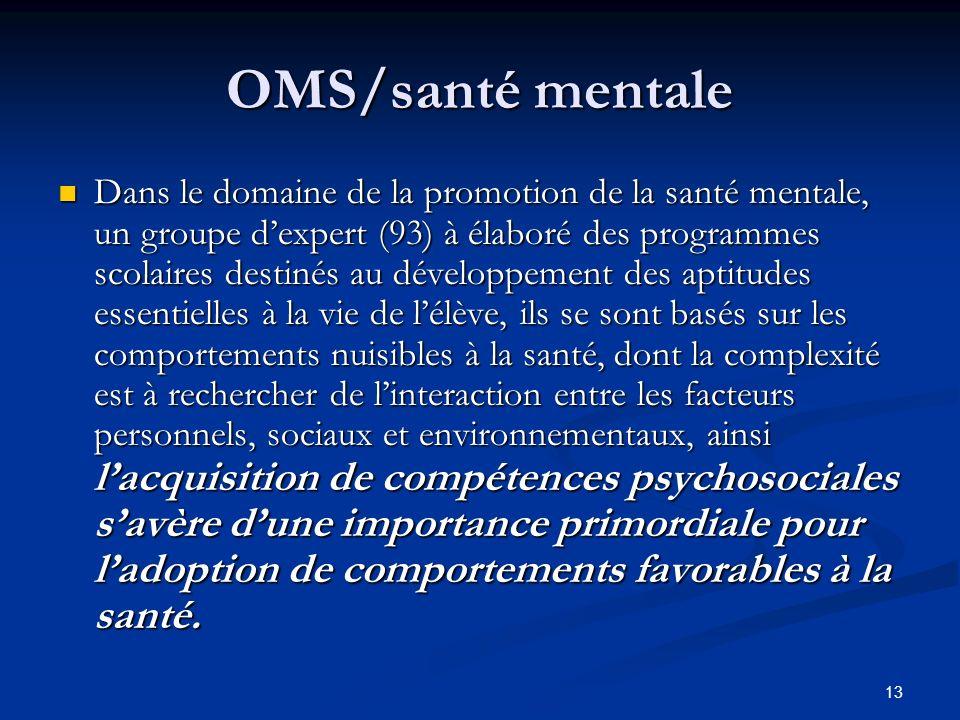OMS/santé mentale