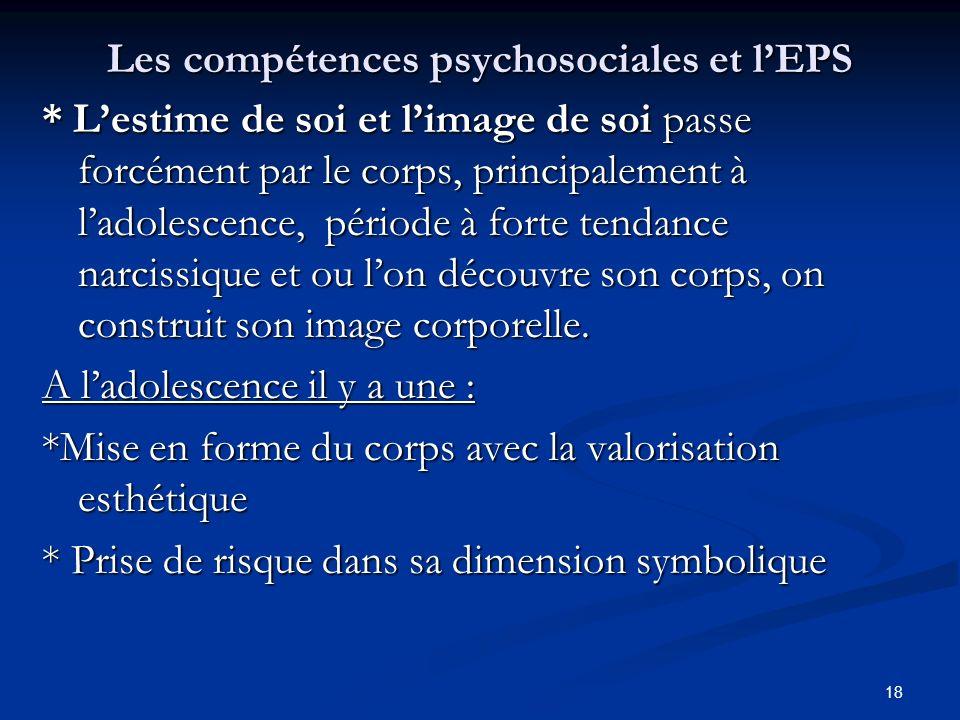 Les compétences psychosociales et l'EPS