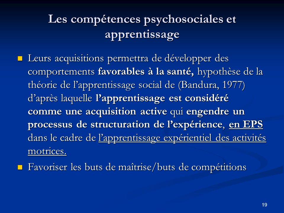 Les compétences psychosociales et apprentissage